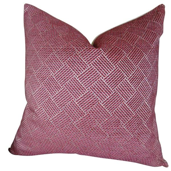 Plutus Marble Arch Fuchsia Hadmade Throw Pillow