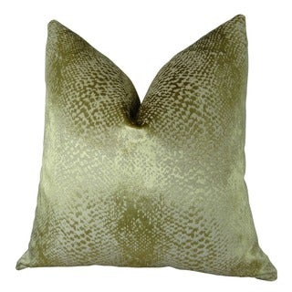 Plutus Hidden World Gold Handmade Throw Pillow