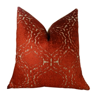 Plutus Claret Handmade Throw Pillow