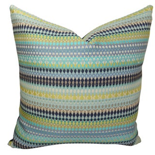 Plutus Alpenglow Turquoise Handmade Throw Pillow