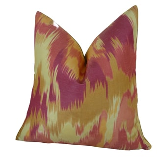 Plutus Olavanna Ikat Handmade Double Sided Throw Pillow