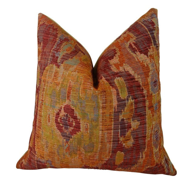 Plutus Bear Canyon Handmade Double Sided Ikat Throw Pillow