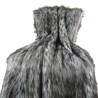 Plutus Luxury Faux Fur Siberian Husky Throw Blanket