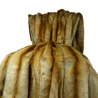 Plutus Sheared Faux Fur Chinchilla Blanket