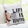 Life Is Beautiful Banksy Throw Pillow