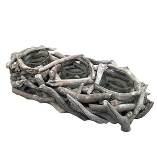 Driftwood Network 3 Tealight White Wash