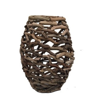 Driftwood Network Vase Small Natural