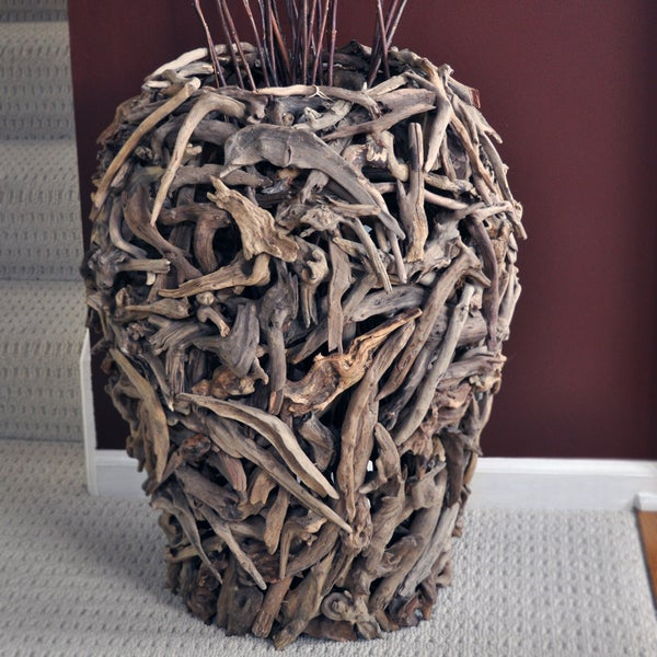 Driftwood Urn 60 Natural