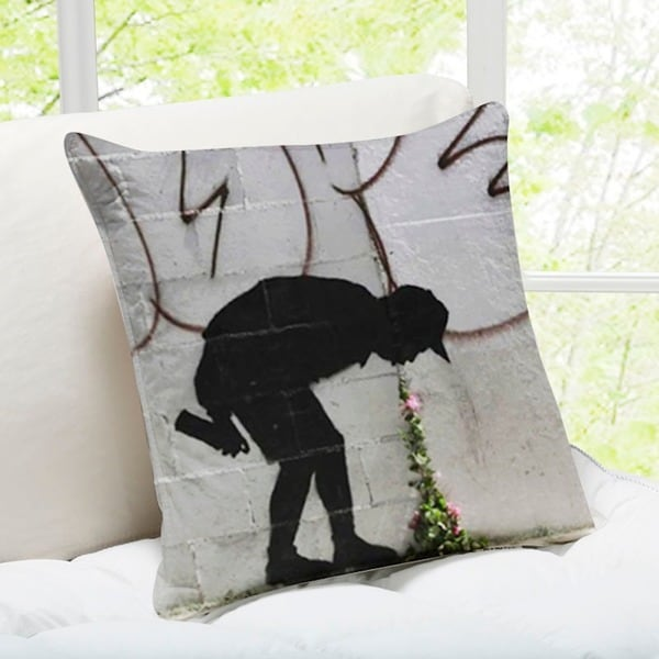 Better In Than Out Los Angeles Banksy Pillow