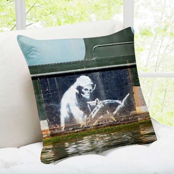 'The Grim Reaper' Bristol Banksy Art Throw Pillow