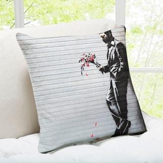 'Waiting In Vain' New York Banksy Art Throw Pillow
