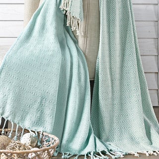 100-percent Cotton Multi-Diamond Throws (Set of 2)