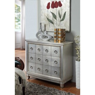 Treasure Trove Accents Cosmopolitan Burnished Silver Three-Drawer Dresser