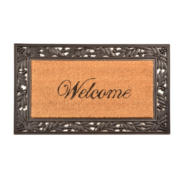 HomeTrax Designs Welcome Cocoa Mat (18-inch x 30-inch)