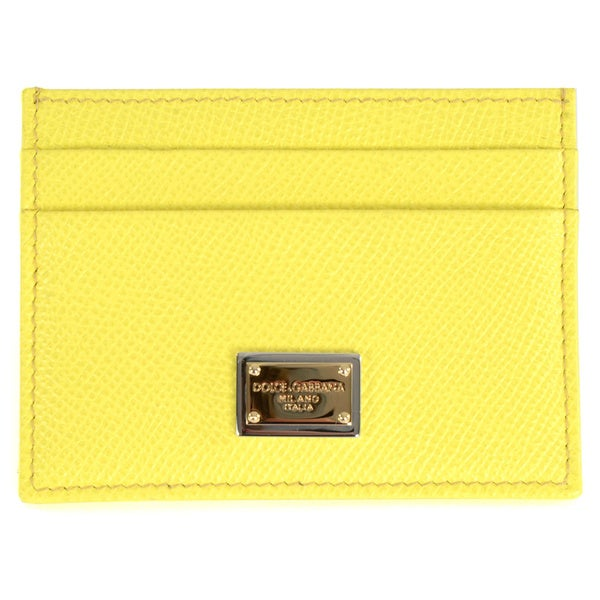 Dolce & Gabbana Leather Dauphine Card Holder