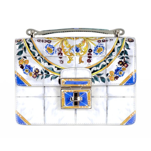 Dolce & Gabbana Crossbody Handbag with Majolica Print