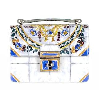 Dolce & Gabbana Crossbody Handbag with Majolica Print