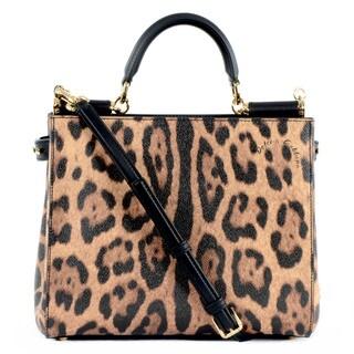 Dolce & Gabbana Medium Miss Sicily Leopard Shopper Tote