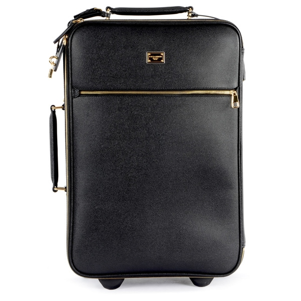 Dolce & Gabbana Black Leather Dauphine Roller Bag