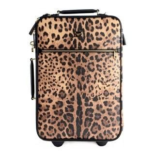 Dolce & Gabbana Leather Leopard Dauphine Roller Bag