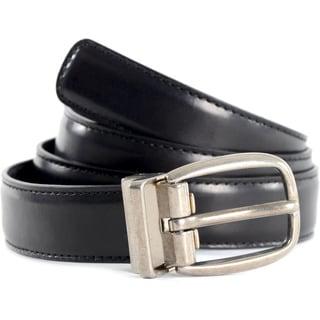 Dolce & Gabbana Men's Smooth Leather Top Stitching Belt