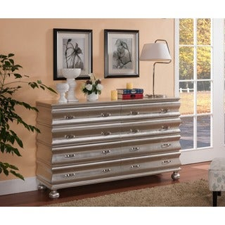Treasure Trove Accents Ivandale Silver Leaf Eight Drawer Credenza