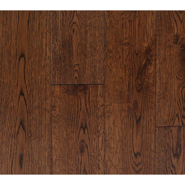 The Somette Haslett Oak Series Country Brown Solid Hardwood Flooring (22.60 Sq Ft)