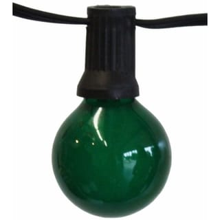 25-foot Party Light Strings with Green Bulbs