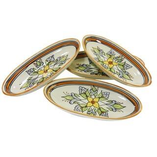 Le Souk Ceramique Salvena Design Small Oval Platters (Set of 4)