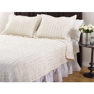 Liana Ruffled 3-piece Quilt Set