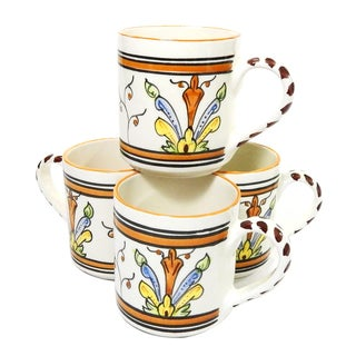 Le Souk Ceramique Salvena Design Coffee Mugs (Set of 4)