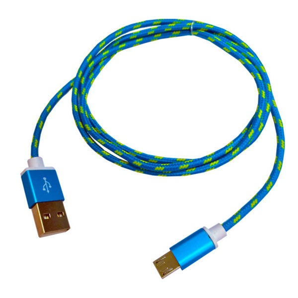 High Speed 40-inch Blue Micro USB Charging Cable