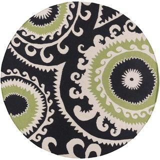Hand-Woven Sam Reversible Wool Rug (8' Round)