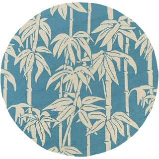 Florence Broadhurst : Hand-Hooked Rudy Floral Rug (8' Round)