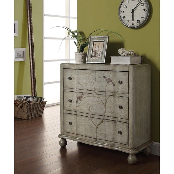 Treasure Trove Accents Jackson Heights Grey Three Drawer Chest
