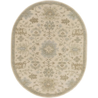 Hand-Tufted Tipton Floral Wool Rug (8' x 10' Oval)