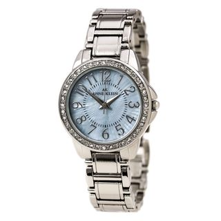 Anne Klein Women's 10-9661TMSV Crystal Stainless Steel Watch