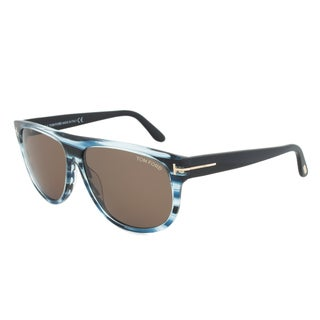 Tom Ford TF375 90B Kristen Blue Striped Sunglasses