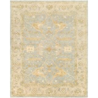 Hand-Tufted Minster Border Indoor Wool Rug (8' x 10')