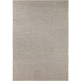 Hand-Woven Wooler Solid Polypropylene Rug (7'10 x 11'2)