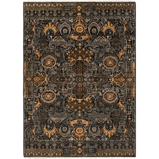 Hand-Knotted Wilton Floral Wool Rug (8' x 11')