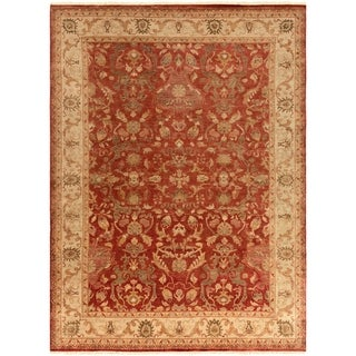 Hand-Knotted Witham Floral Wool Rug (8' x 11')