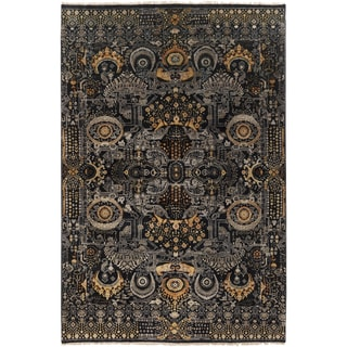 Hand-Knotted Wilton Floral Wool Rug (9' x 13')