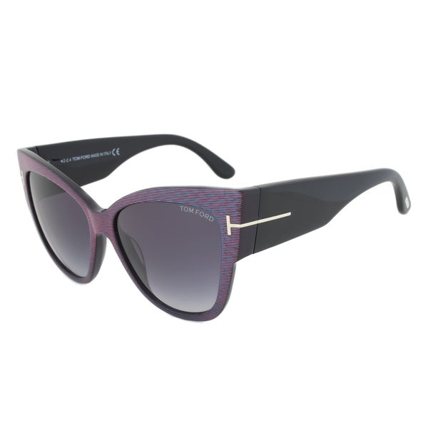 Tom Ford TF371 82W Anoushka Blue Cateye Sunglasses