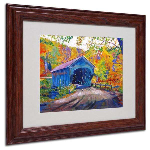 David Lloyd Glover 'Fall Comes to Downer' White Matte, Wood Framed Wall Art