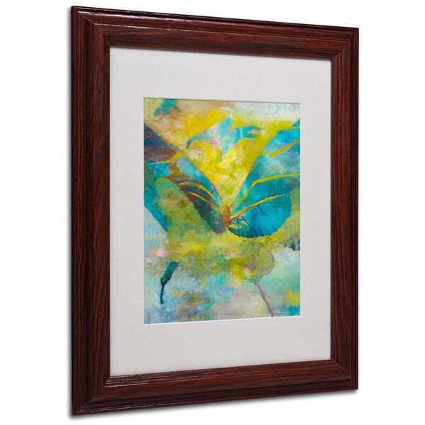 Rickey Lewis 'Butterflight' White Matte, Wood Framed Wall Art