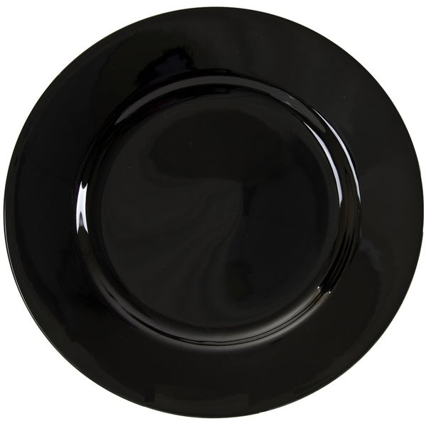 10 Strawberry Street Black Rim 12.25-inch Charger Plate (Set of 6)