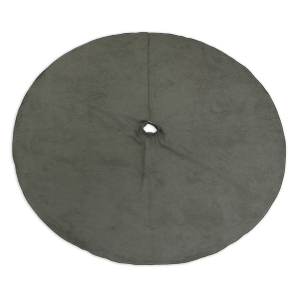 Slam Dunk Olive 53-inch Round Hemmed Tree Skirt