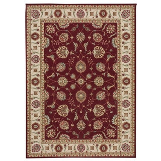 Nourison Empire Burgundy Rug (5' x 7')
