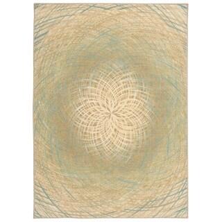 Nourison Empire Blue Rug (5' x 7')
